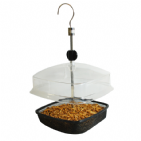 Mealworm Hanging Feeder With Canopy For Wild Birds Kingfisher Bird Care